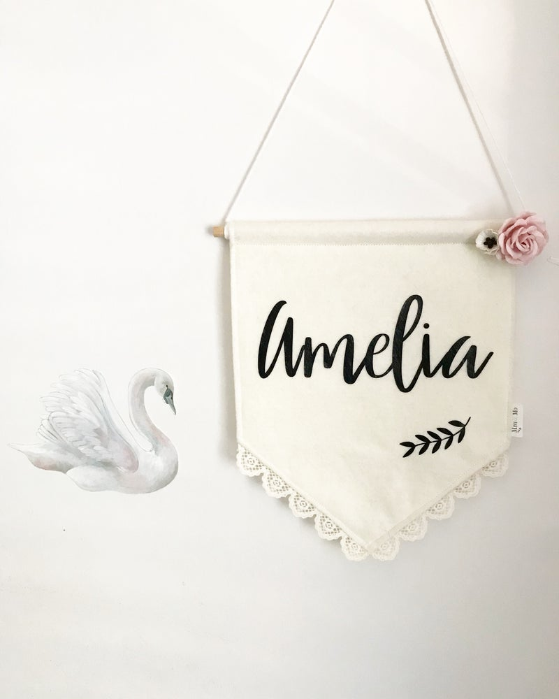 Image of Vintage Name Banner