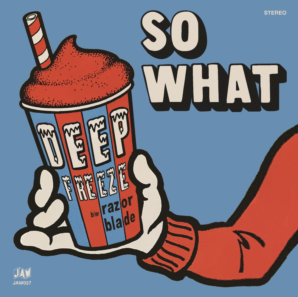 "Image of SO WHAT Deep Freeze 7"" single (black, ice blue, snow white, and test pressing)"
