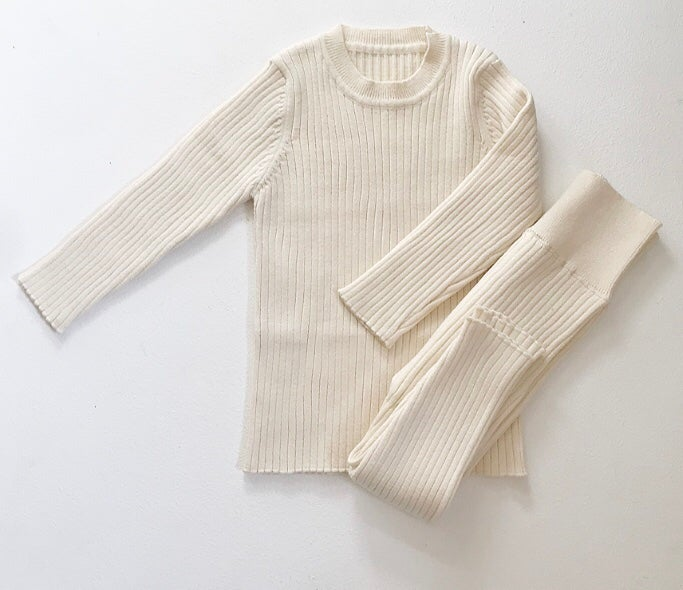 Image of Ribbed loungwear sets