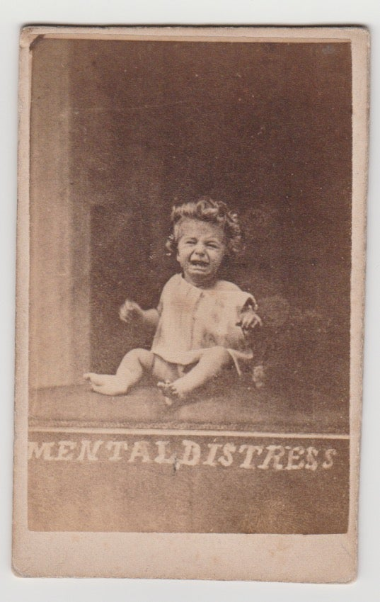 Image of Oscar Gustav Rejlander: CdV of a crying child, the Ginx's baby, 1871