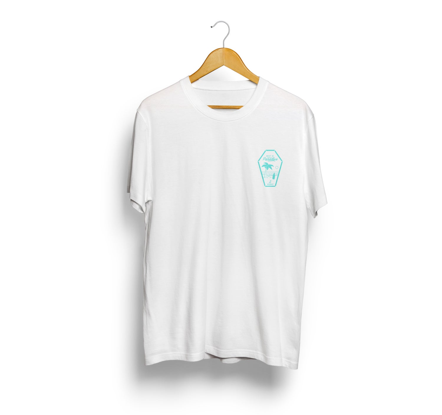 Image of RIP white/baby blue t-shirt
