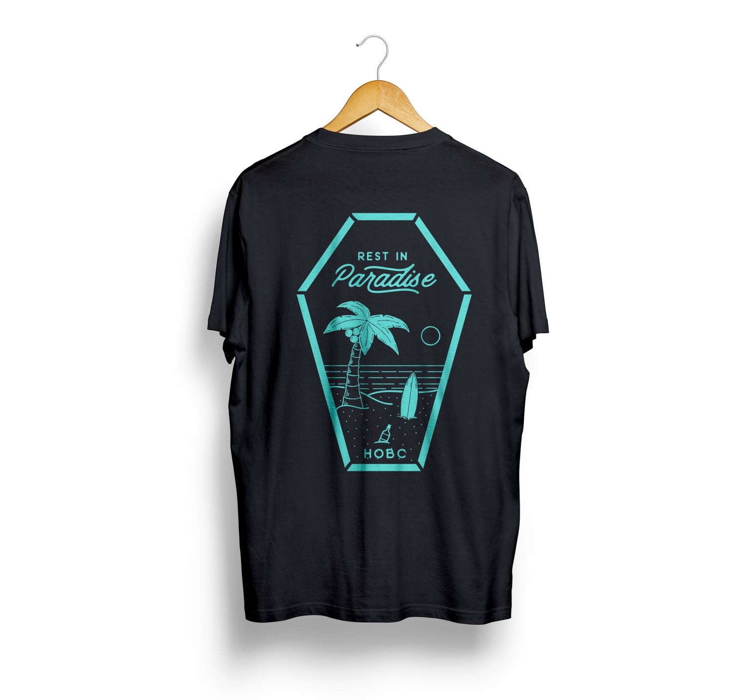 Image of RIP black/baby blue t-shirt