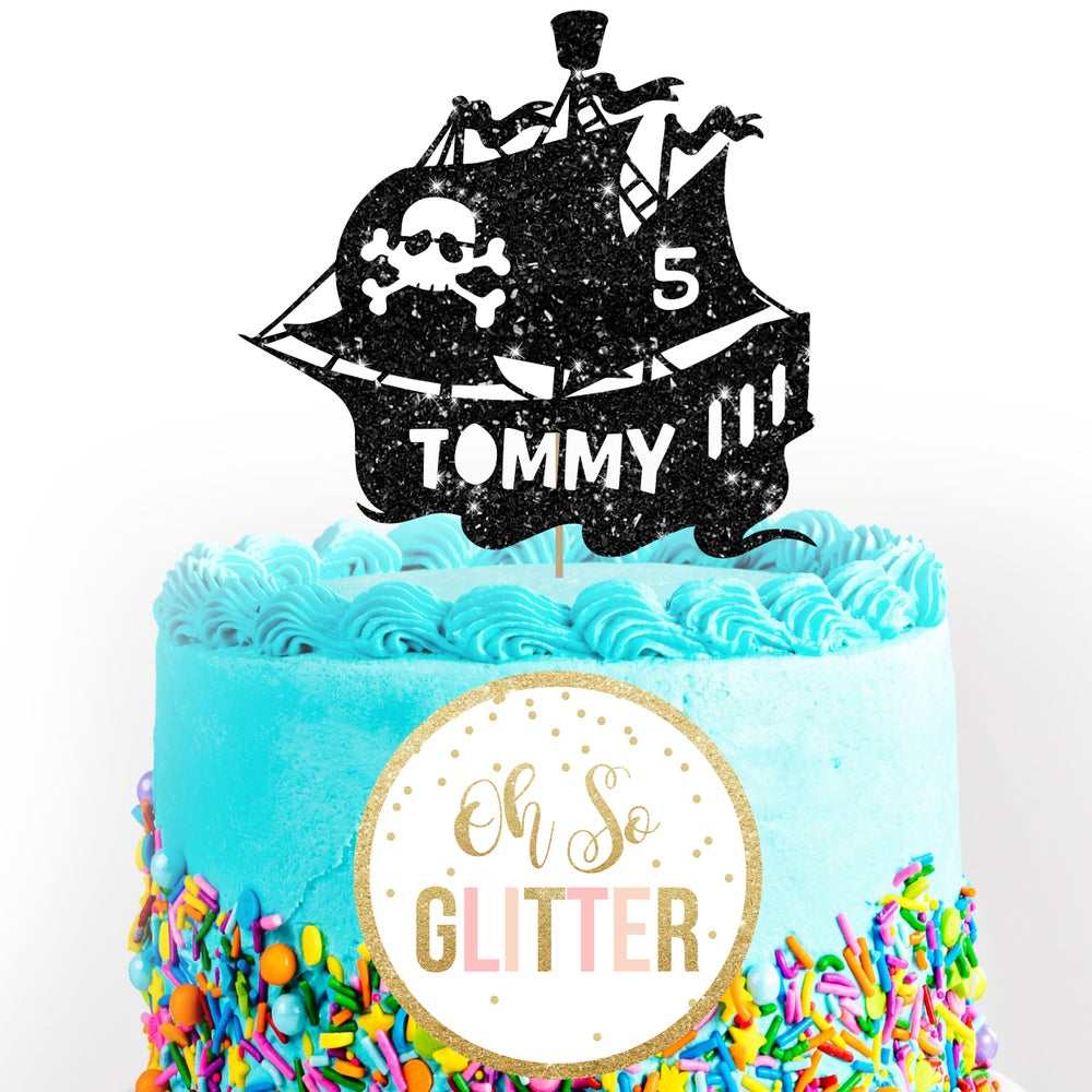 Image of Pirate Ship Cake Topper