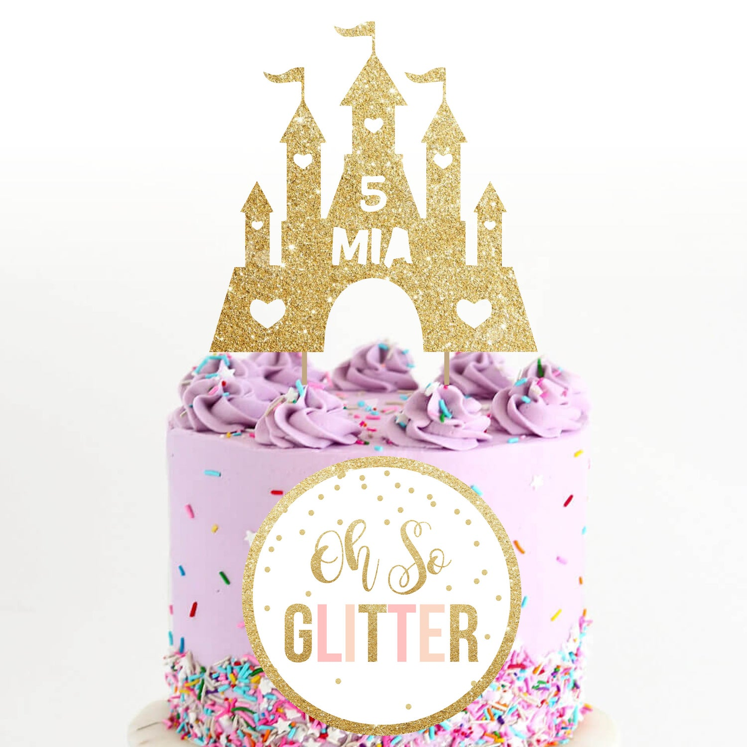 Strange Princess Castle Cake Topper Oh So Glitter Funny Birthday Cards Online Inifofree Goldxyz