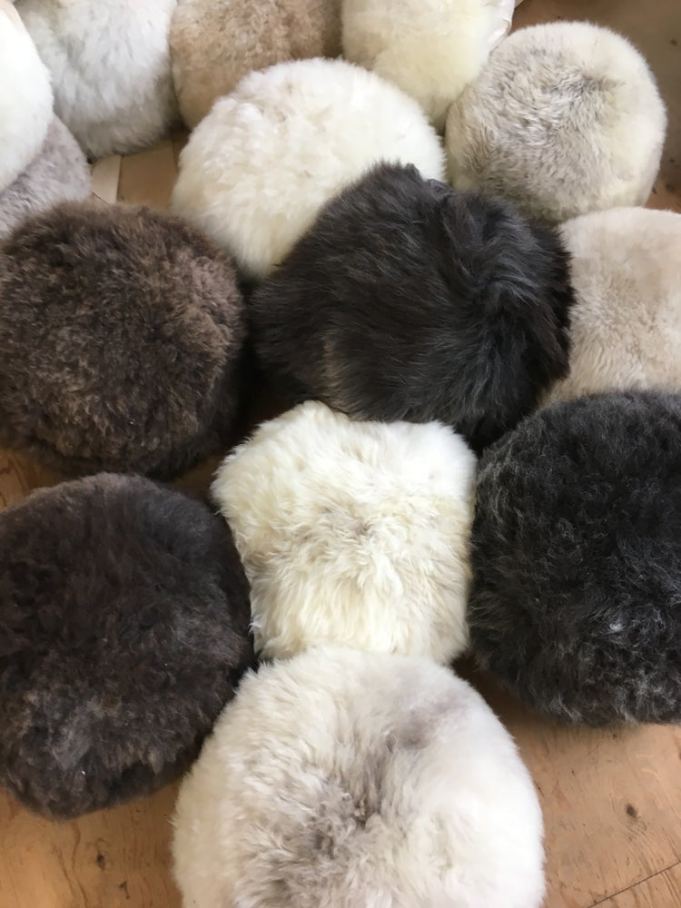 Image of Made to order sheepskin pouffes