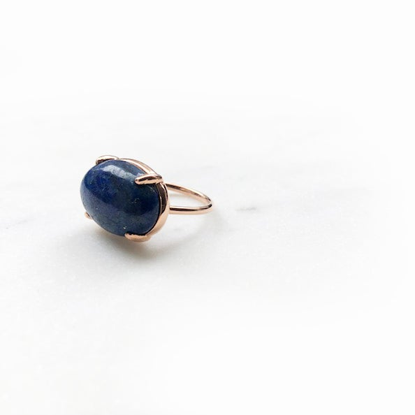 Image of Lapis Dome Ring