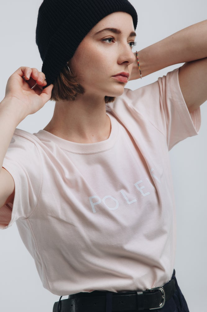 Image of Logo Tee candy pink white relaxed