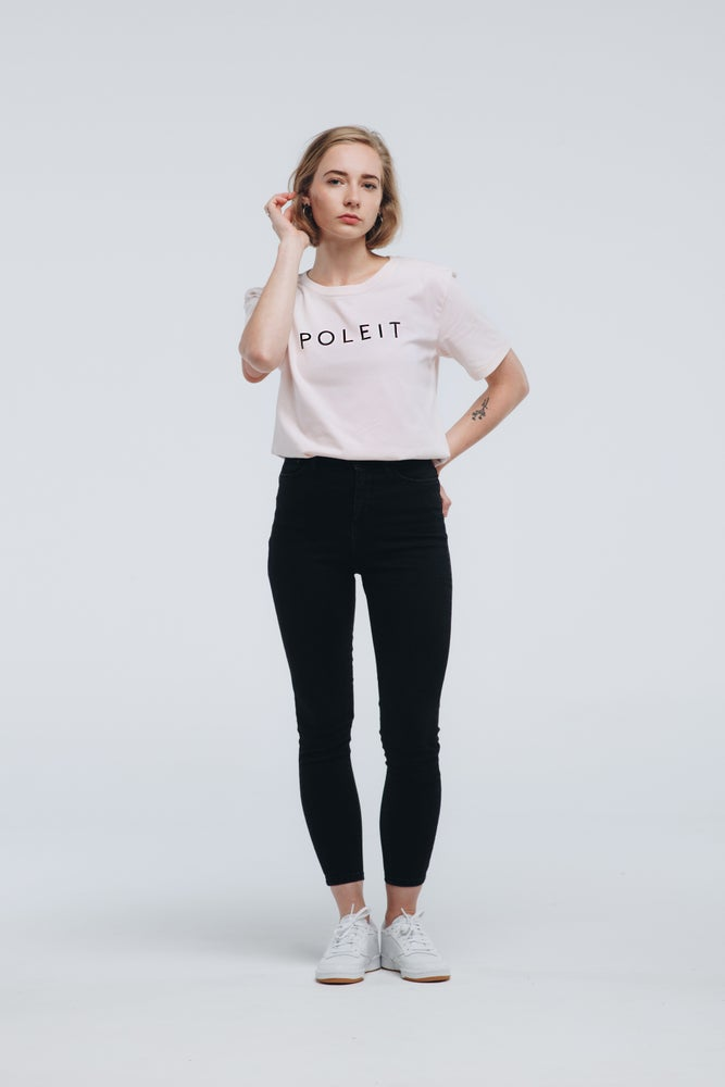 Image of Logo Shirt candy pink black relaxed