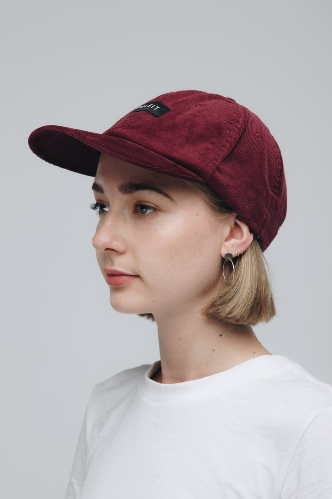 Image of Poleit Cord Cap Red