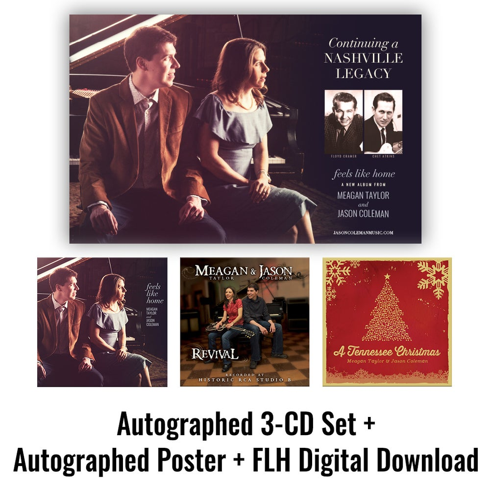Image of Autographed 3-CD Set + Autographed Poster + Feels Like Home Digital Download