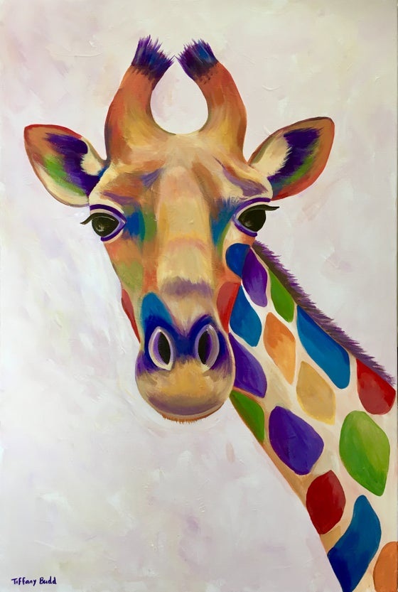 Image of Rainbow Giraffe 2 print