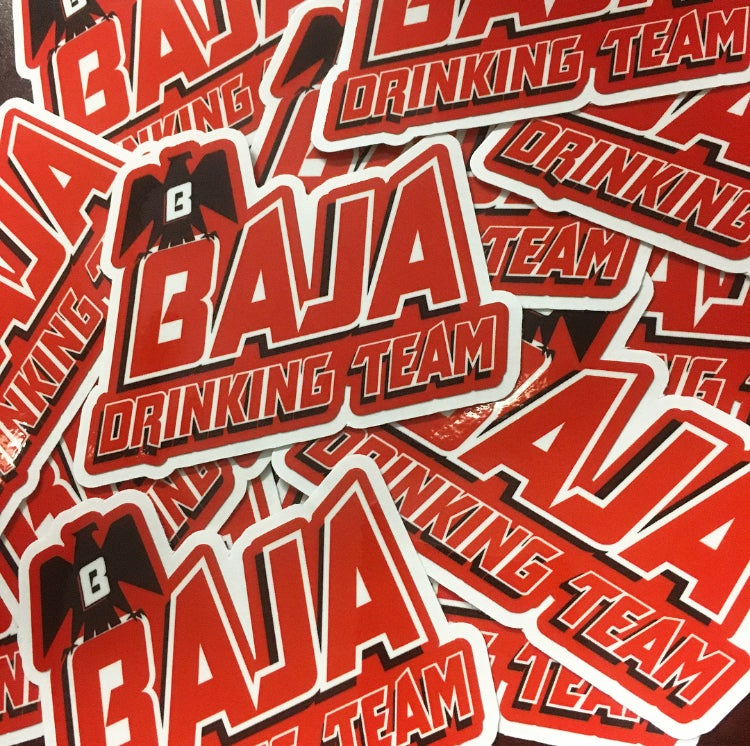 Image of Baja Drinking Team Race Day Decal