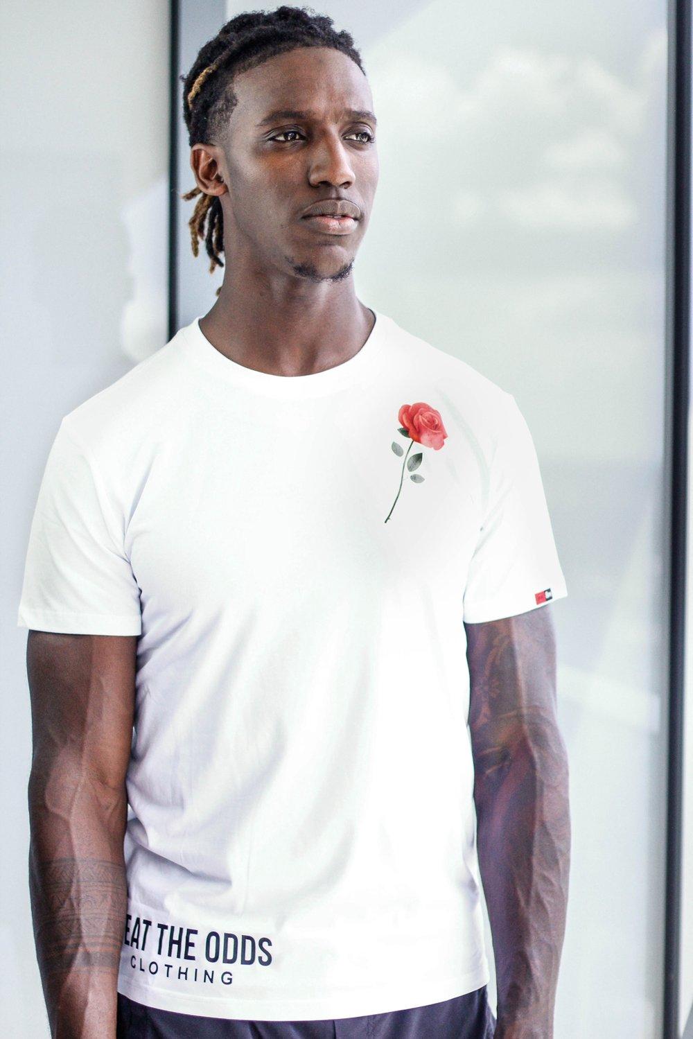 Image of Men's Rose Tee (White)