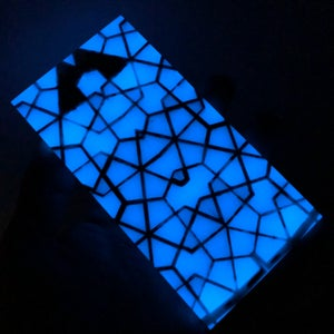 """Image of Labyrinth Core Snow Camo with Blue GLOW Fill Scale Set 1/4"""" x 1-1/2"""" x 6"""""""