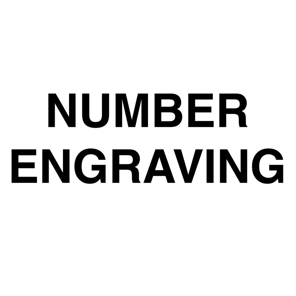 Image of NUMBER ENGRAVING