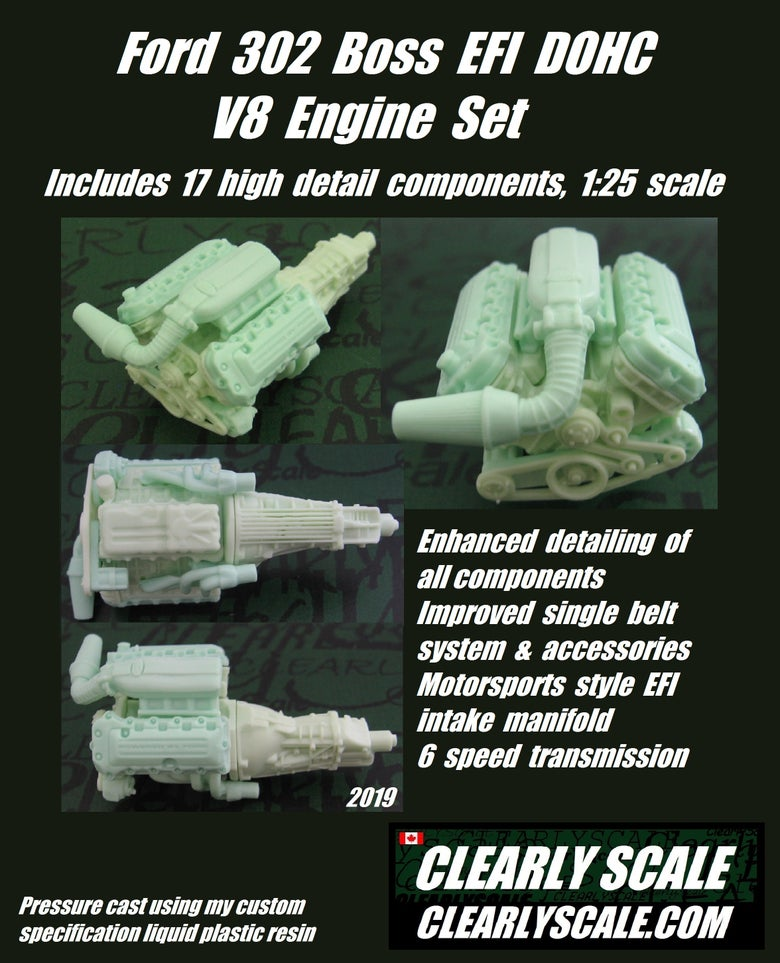Image of Ford 302 Boss (Coyote 5.0L) EFI DOHC V8 Engine + Transmission Set