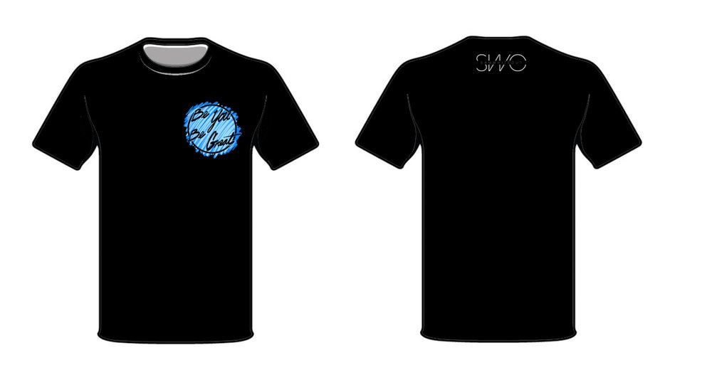 Image of BYBG T-Shirt (Short Sleeve) in Black/Blue