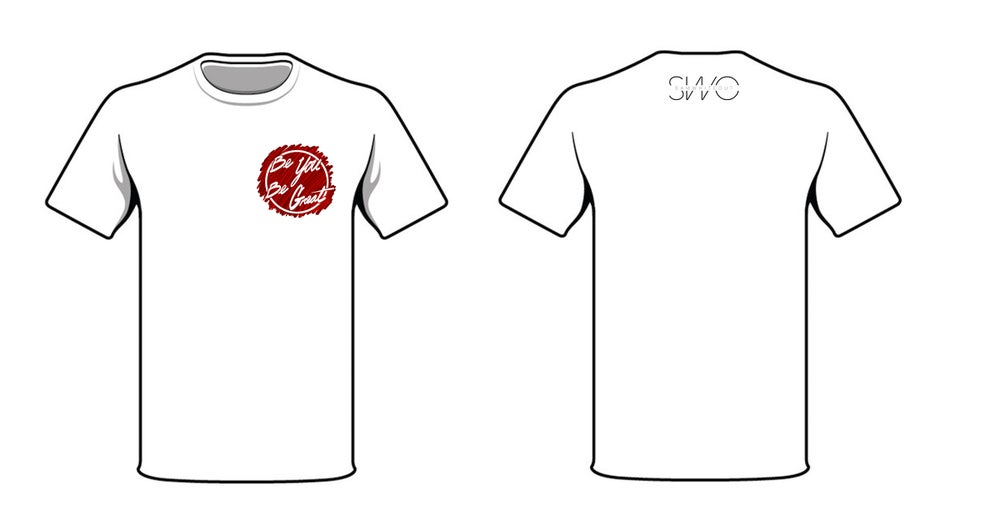 Image of BYBG T-Shirt (Short Sleeve) in White/Red