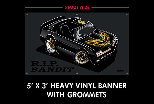 Image of R.I.P. Bandit Shirts Stickers Banners