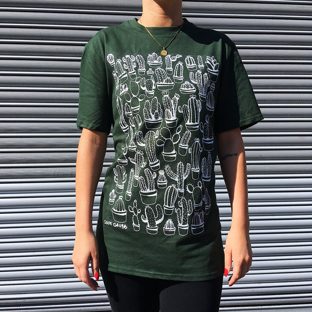 Image of Cacti T-shirt (White/Green)