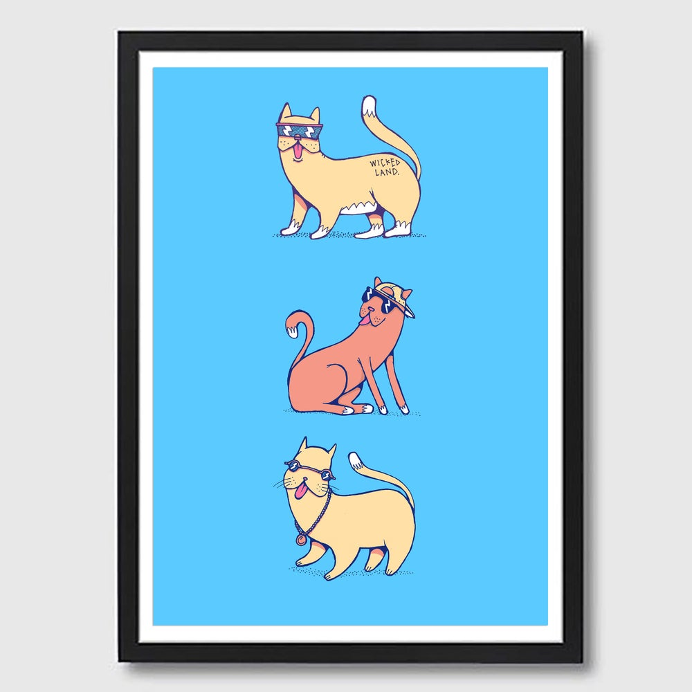 Image of Framed A3 Cool Cats Print