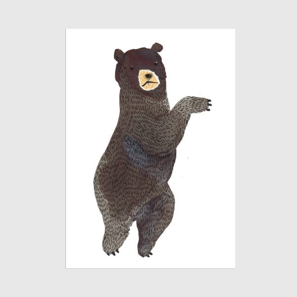 Image of A3 Dancing Bear Print