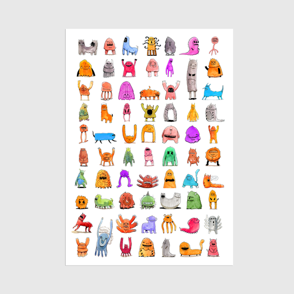 Image of A3 Monsters Print