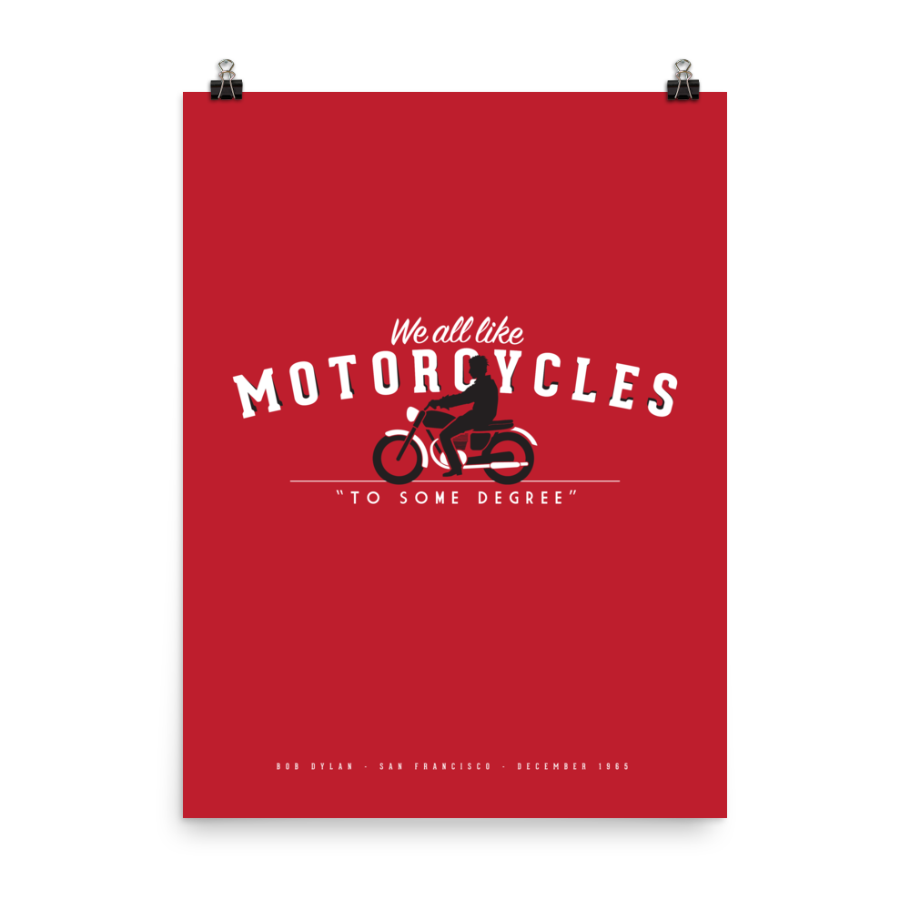 Image of DYLAN MOTORCYCLE print or shirt