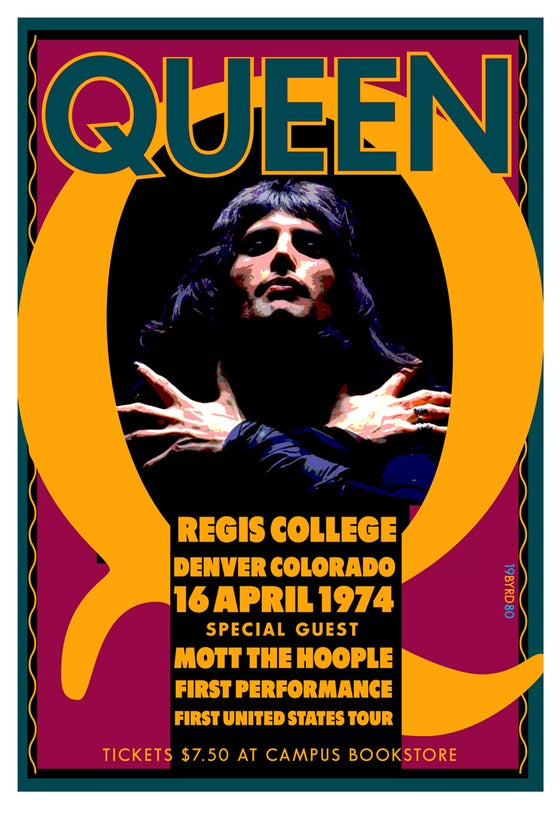 Image of QUEEN at Regis College Denver 1974