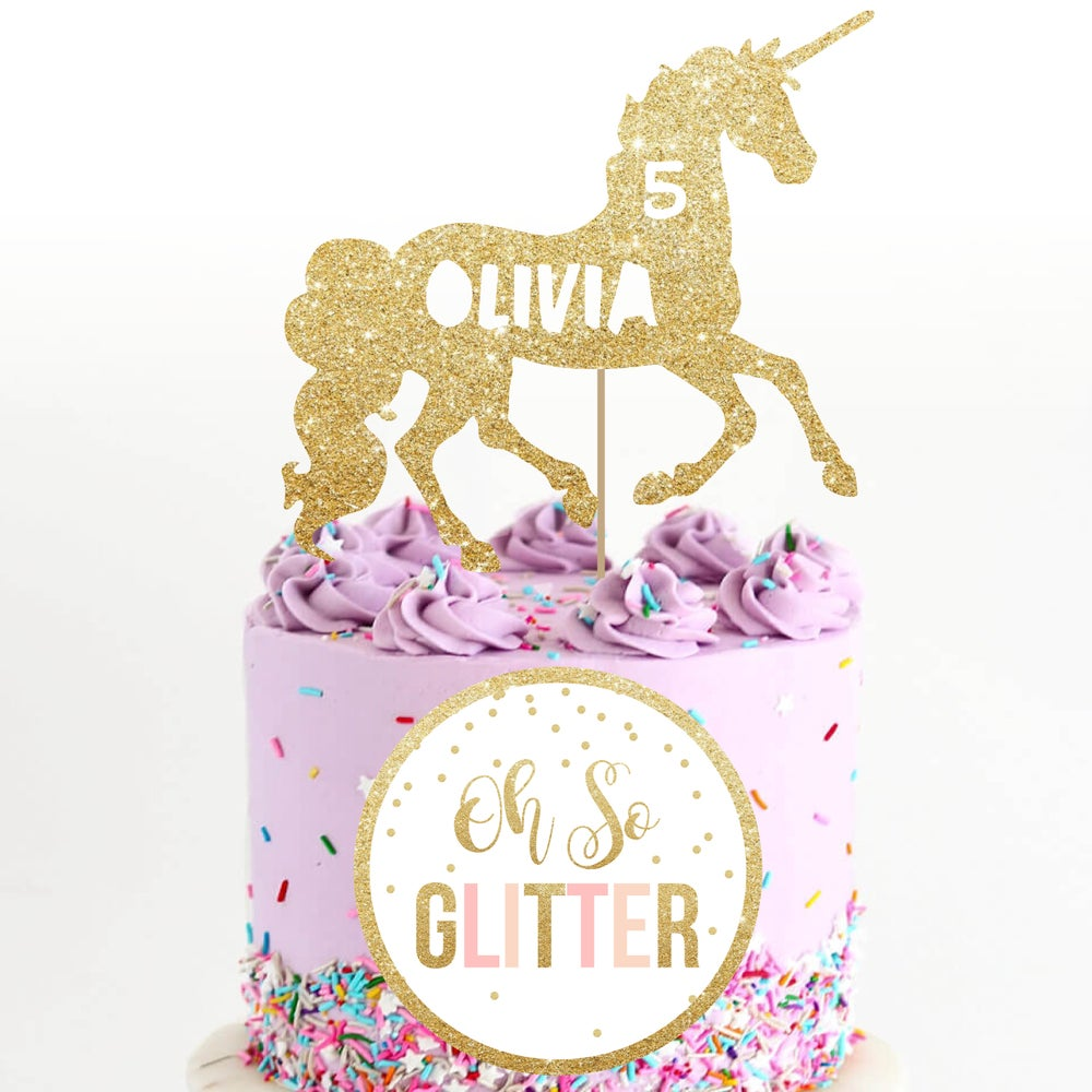 Image of Unicorn Cake Topper1