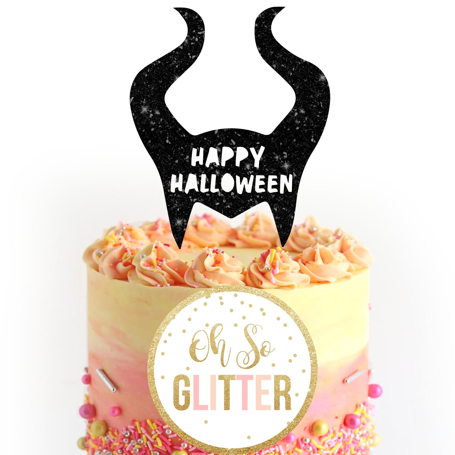 Image of Halloween Maleificent Cake Topper