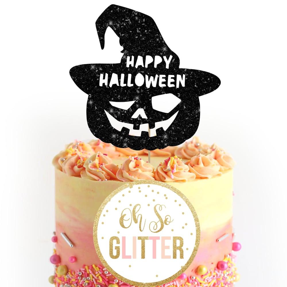 Image of Halloween Pumkin Hat Cake Topper