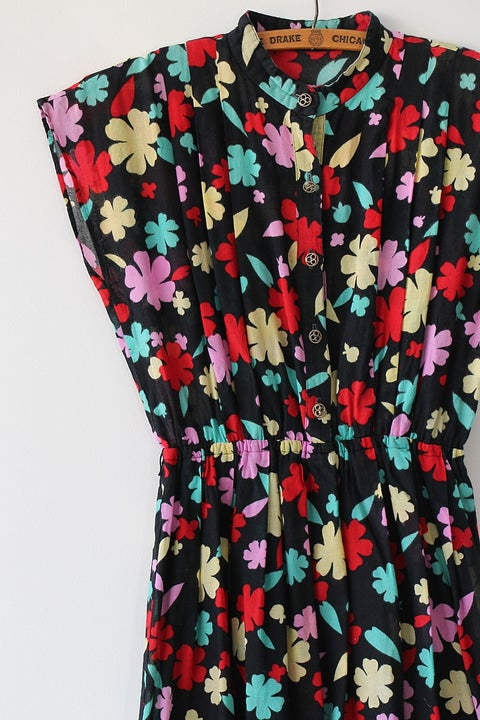 Image of SOLD Apples And Flowers Dress