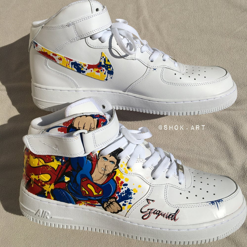 "Image of AIR FORCE 1 "" SUPERMAN "" // BY SHOKART"