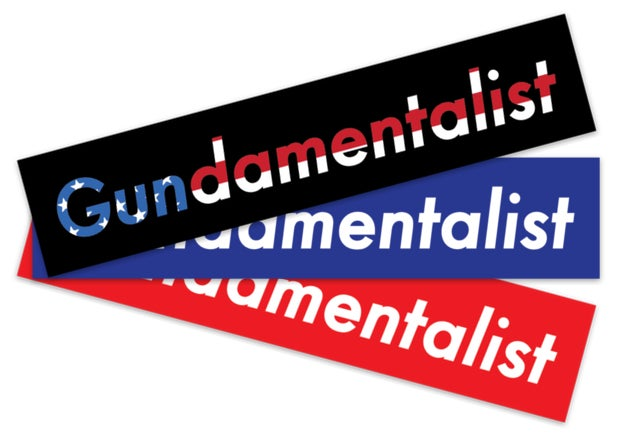 Image of Gundamentalist Sticker Pack (Red, Blue, American Flag)