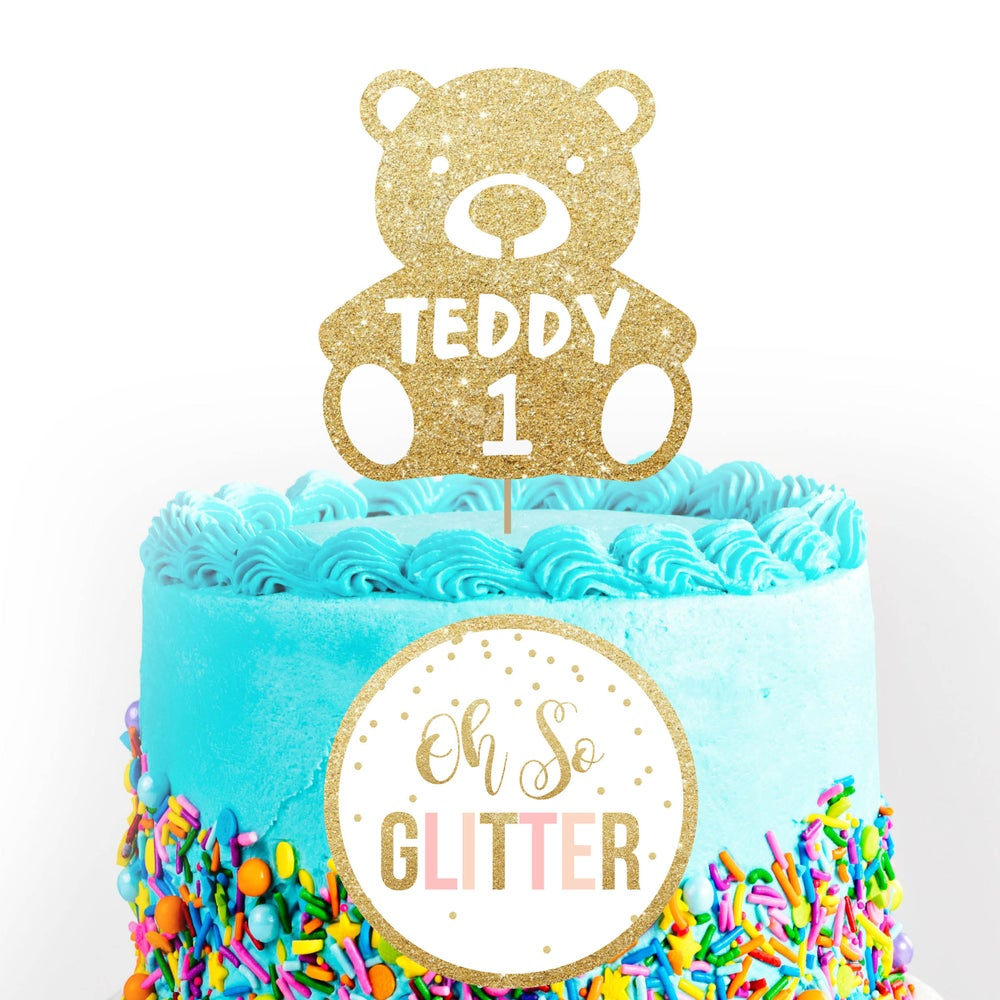 Image of Teddy Bear Cake Topper
