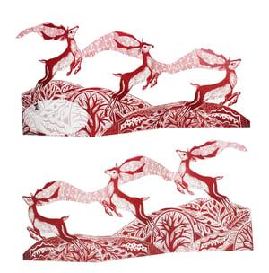 Image of Prancing Reindeer Tri-fold