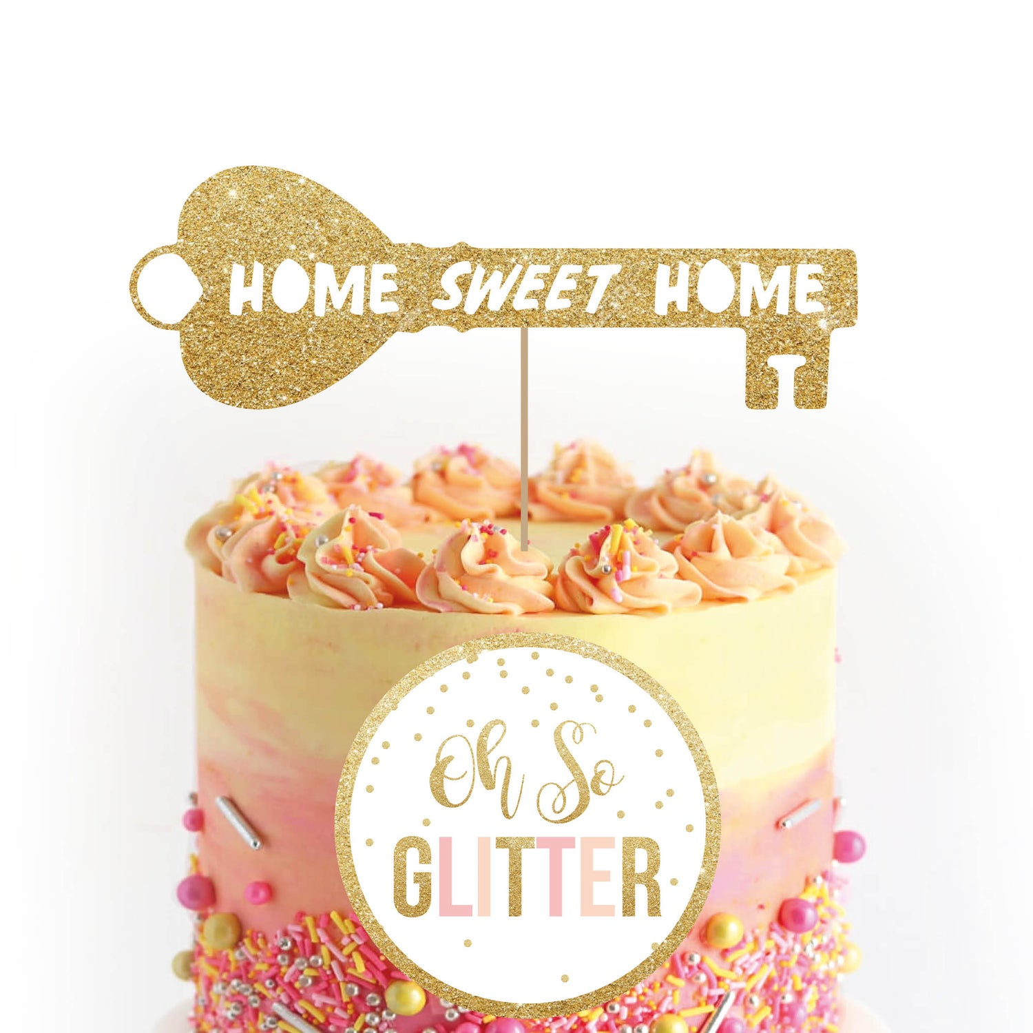 Image of Home Sweet Home Key Cake Topper