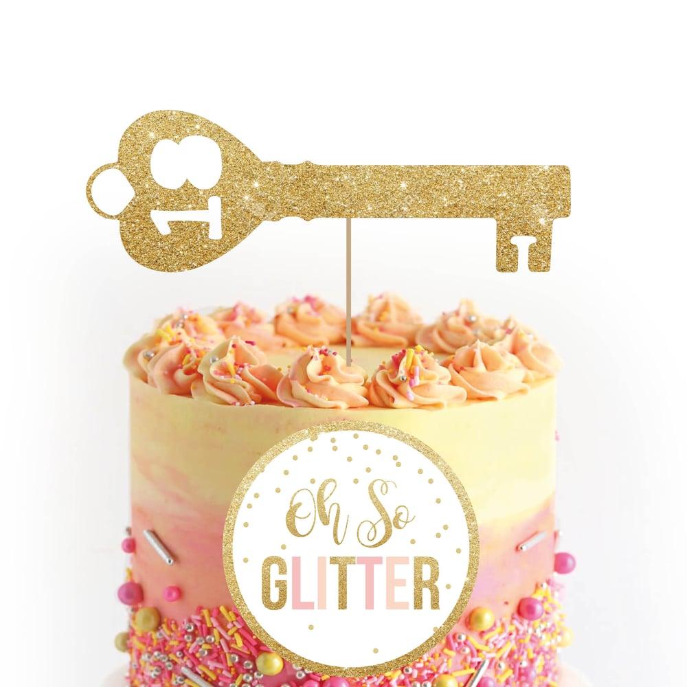 Image of 18 Key Cake Topper