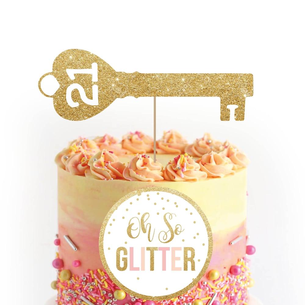 Image of 21 Key Cake Topper