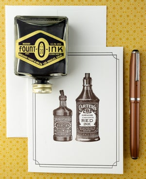 Vintage Ink Bottle Notecards