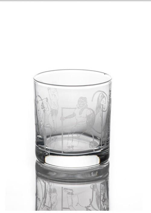 Image of Bourbon Glass Featuring Artist Emily Herr