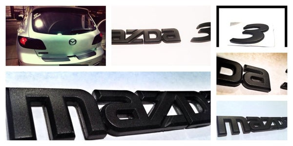 Image of Mazda 3 - Mk2, 2010-2014 BLACKOUT Emblems