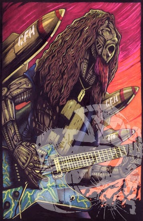 """Image of """"ROBOTIC DIMEBAG"""" Poster (LIMITED 1 of 20 Autographed)"""