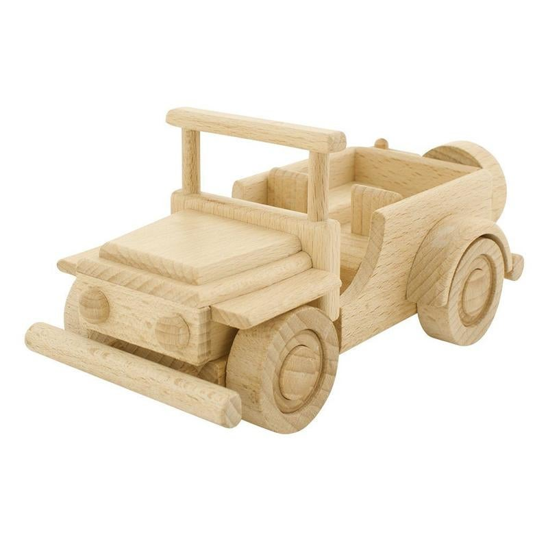 Image of Wooden Jeep