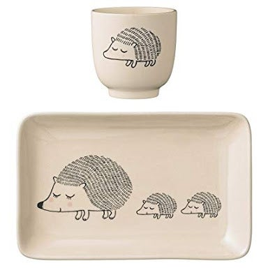 Image of Hedgehog Ceramic Plate and Cup