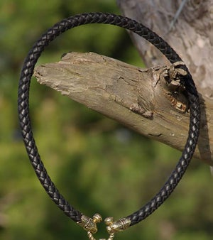 Image of Pantera Heads Leather Necklace - HANDMADE