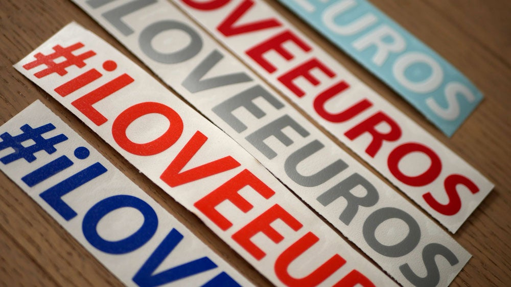 Image of #iLOVEeuros Vinyl Sticker Decals (Pair)