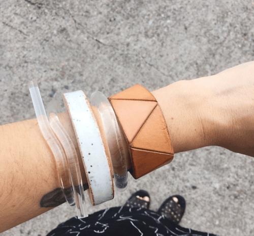 Image of Acrylic Wave Bracelet