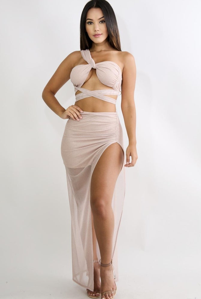 Image of Twinkle sheer spilt skirt